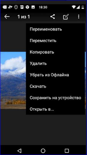 Действия с фото в Яндекс диске