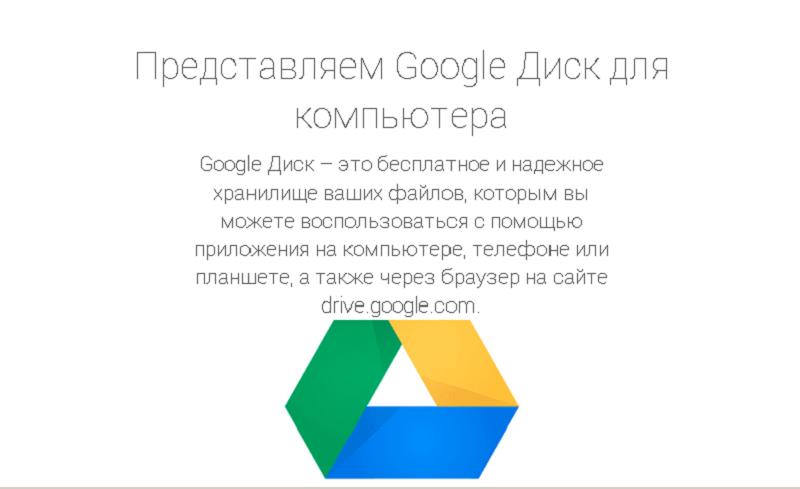 использование из браузера Гугл Диск
