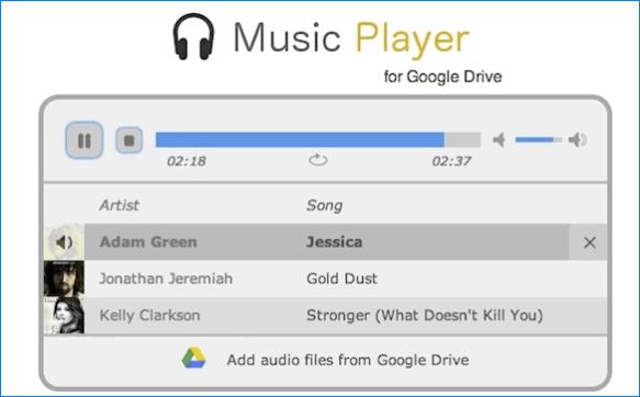 Музыкальный проигрыватель Гугл Диск