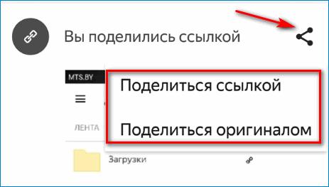 Поделиться файлом с мобильного приложения Яндекс Диск