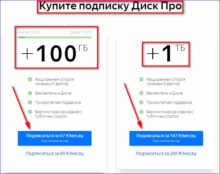 Подписка Диск Про на Яндекс